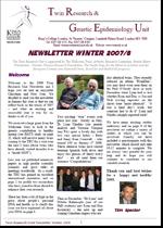 Newsletter Winter 2007/8