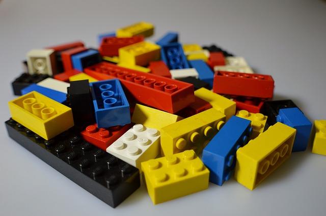 Pile of lego bricks