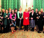 Photograph of female leaders of arthritis research with HRH The Duchess of Cornwall